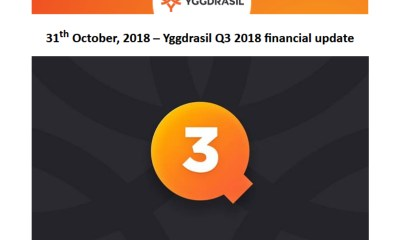 Yggdrasil Q3 2018 financial updat