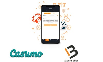 Casumo chooses MuchBetter as new instant payment option