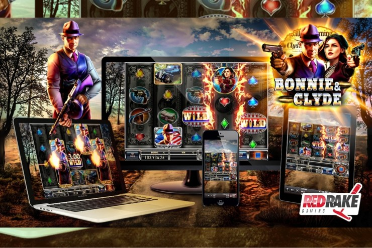 the new Bonnie & Clyde video slot from Red Rake Gaming