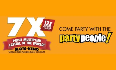 Spring Forward & Celebrate with 7X Points and Party People Games at Barona Resort & Casino on Sunday, March 10