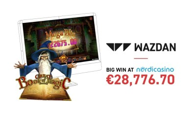 Big Win on Wazdan's Great Book of Magic Deluxe at Nordicasino