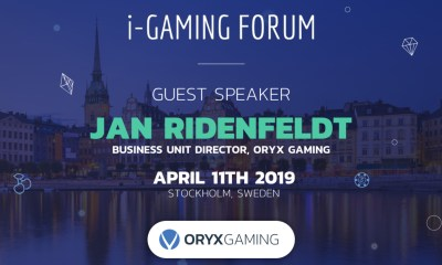 ORYX Confirmed to speak at the 11th i-Gaming Forum