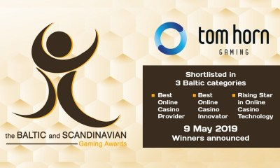 Tom Horn in the category finals of the Baltic and Scandinavian Gaming Awards 2019