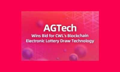 AGTech Wins Procurement Bid for China Welfare Lottery's Blockchain Electronic Lottery Draw Technology