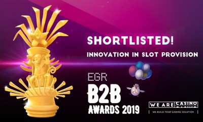 WeAreCasino Shortlisted In Innovation In Slot Provision At EGR B2B Awards 2019