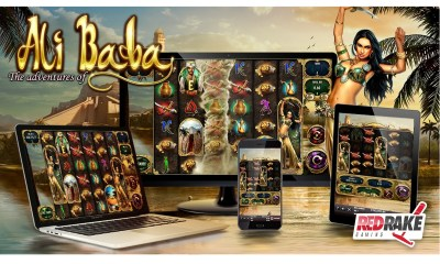 "Tornado of wins and an infinite free spins feature in ""The Adventures of Ali Baba"", the new video slot from Red Rake Gaming"