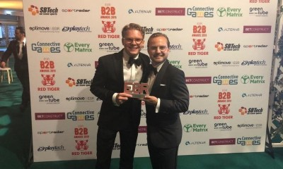 "Together Gaming Wins ""White label partner"" Prize at 2019 EGR B2B Awards"