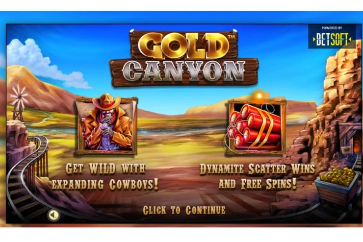 Betsoft's - Gold Canyon explodes onto market