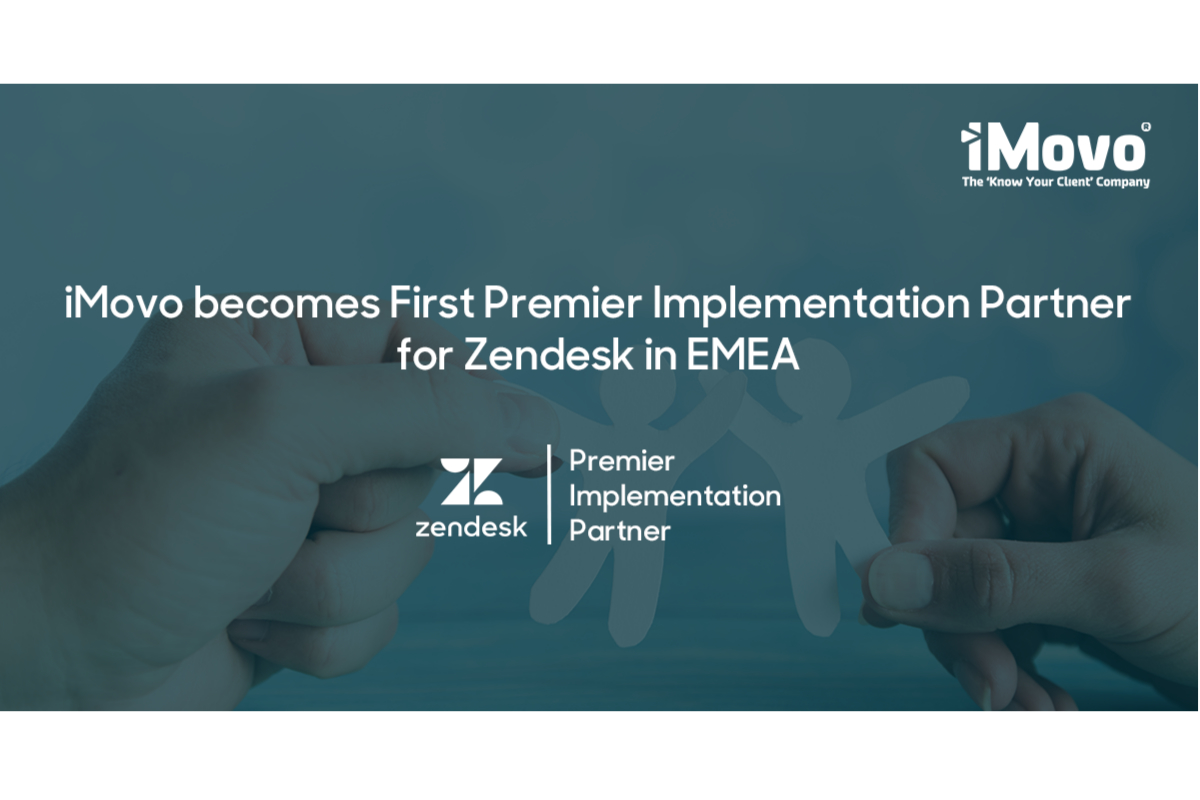 iMovo becomes First Premier Implementation Partner for Zendesk in