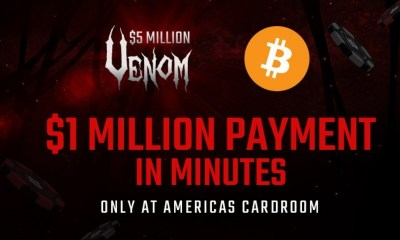 Americas Cardroom Will Send $1 Million via Bitcoin to $5 Million Venom Winner