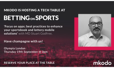 App focus: mkodo to host roundtable at upcoming Betting on Sports event