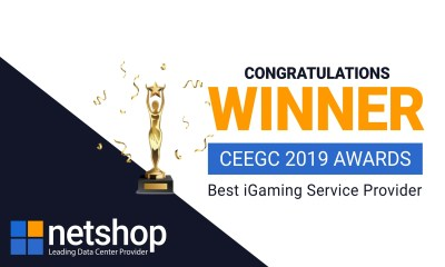 NetShop Internet Services is the winner in the category Best iGaming Service Provider at the CEEG Awards 2019
