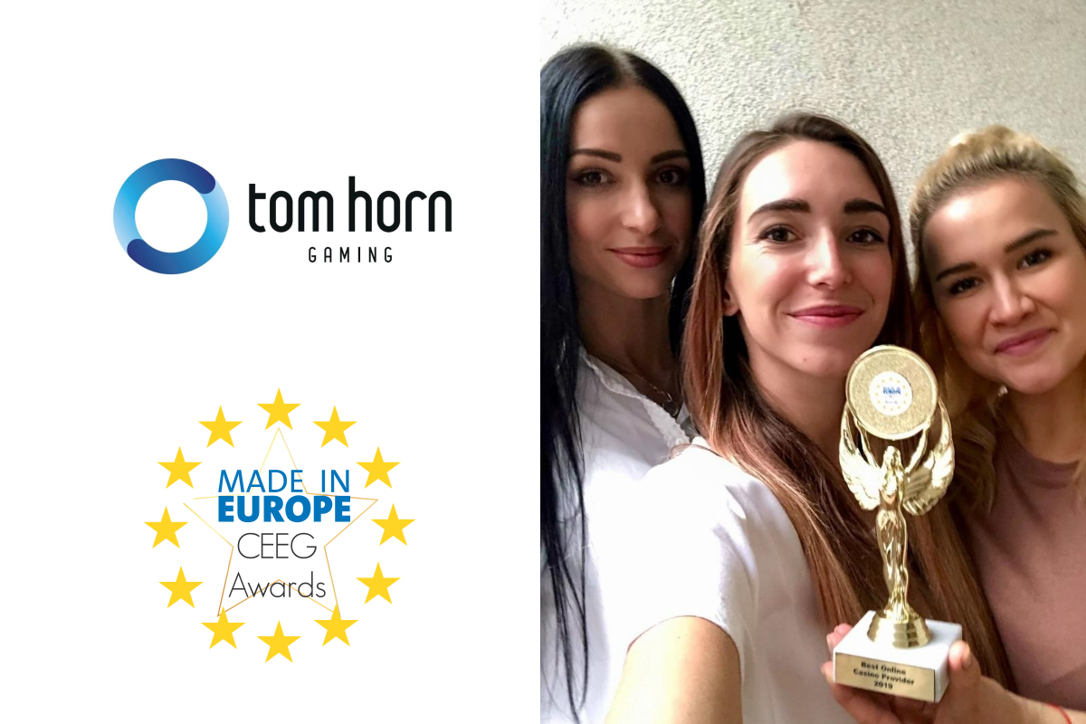 Tom Horn named Best Online Casino Provider at CEEG Awards 2019