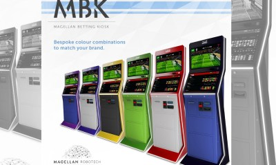"Magellan Robotech launches the MBK (Magellan Betting Kiosk) business division and unveils the ""K1"": stunning design and high quality for a very unique self-service cabinet"