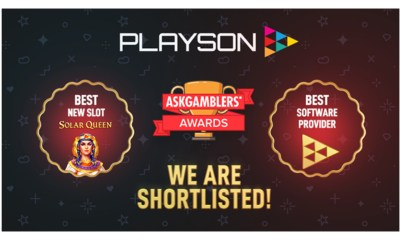 Playson shortlisted for two AskGamblers Awards