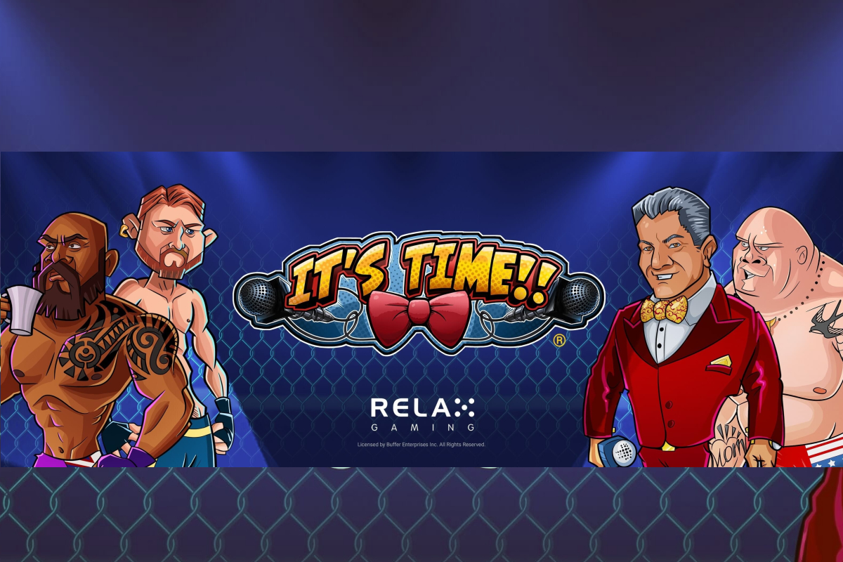 Jump into the cage with Bruce Buffer in Relax Gaming's IT'S TIME!!