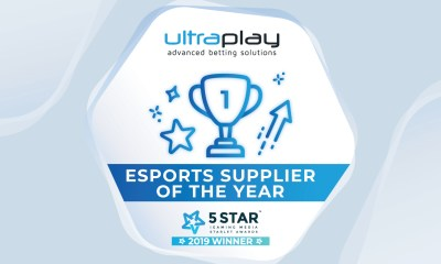 UltraPlay wins eSports Supplier of the Year from Starlet Awards 2019