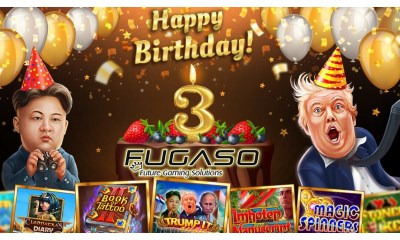 Fugaso celebrate 3 years of innovation, growth and spinning reels with a raft of new content