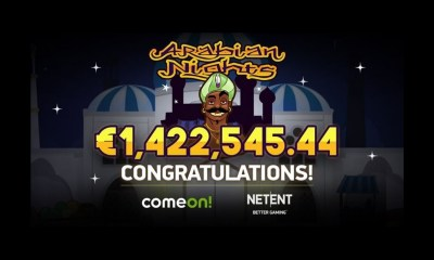 NetEnt's Arabian Nights strikes again as lucky swede wins €1.4m jackpot