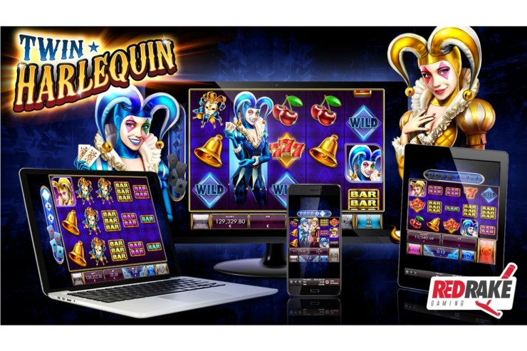 "Enjoy this new release from Red Rake Gaming, ""Twin Harlequin"" with its explosive colors and many wins to be had"