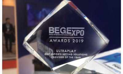 UltraPlay named the Best Esports Betting Solutions Provider at BEGE Expo Awards 2019