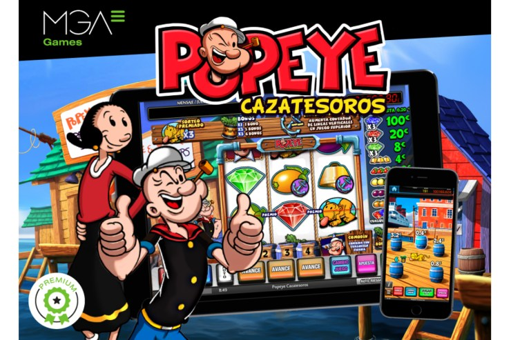Popeye, cazatesoros disembarks in Spanish online casinos