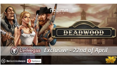 LeoVegas - Nolimit City saddle up once more to launch Deadwood