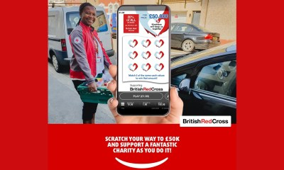 The British Red Cross and Lottoland launch digital scratchcard