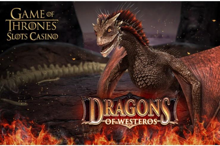 Game of Thrones® Slots Casino Releases Dragons of Westeros Feature