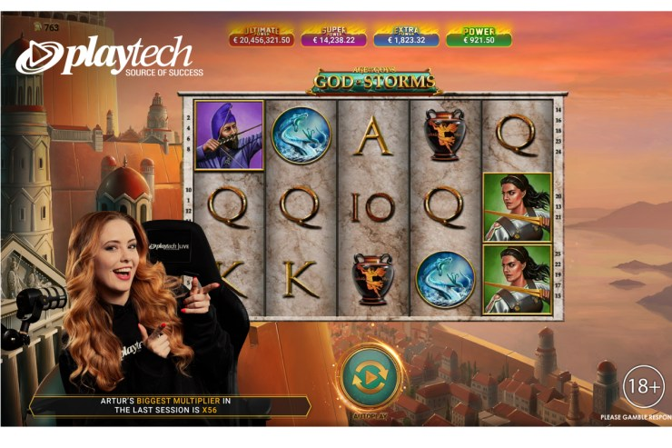 Playtech meluncurkan Age of the Gods: God of Storms Community Live Slots