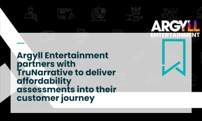 Argyll Entertainment works with TruNarrative for Affordability and Onboarding
