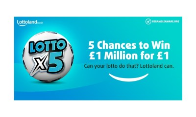 New Lotto Game giving Lotto Lovers 5 Chances to Win a Million… for £1
