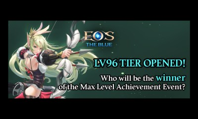 EOS THE BLUE Max Level is now LV96 on the latest update along with Promotions for Achieving the Max Level