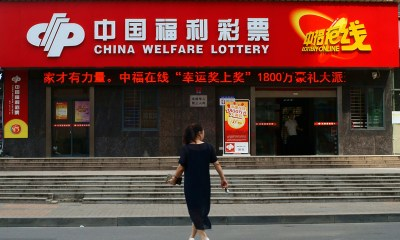 Chinese Lottery Sales Fall 20.8% in 2020