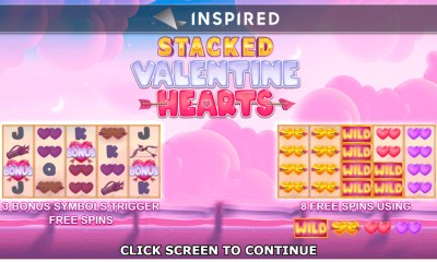 Inspired Launches Stacked Valentine Hearts™, an Online & Mobile Slot Game