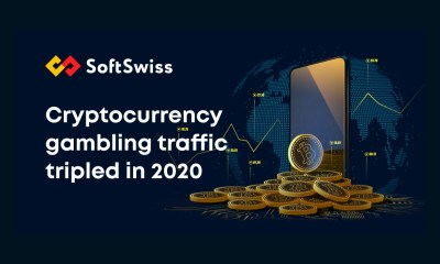 Cryptocurrency gambling traffic saw threefold increase in 2020, SoftSwiss shares