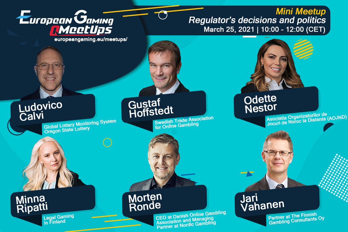Happening next week on 25 March, Regulator's decisions and politics (European Gaming Mini Meetup)