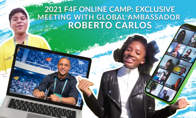 Roberto Carlos exclusive: the Global Ambassador for Football for Friendship answers the questions of Young Participants from all over the world