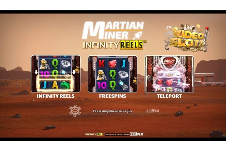 Videoslots rockets ahead with BB Games' Martian Miner