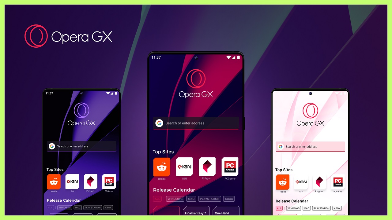 World's first mobile browser for gamers Opera GX launches during E3 on Android and iOS