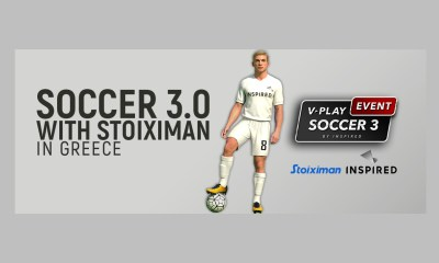 Inspired Launches V-Play Soccer 3.0 with Kaizen Gaming for the Greek Market