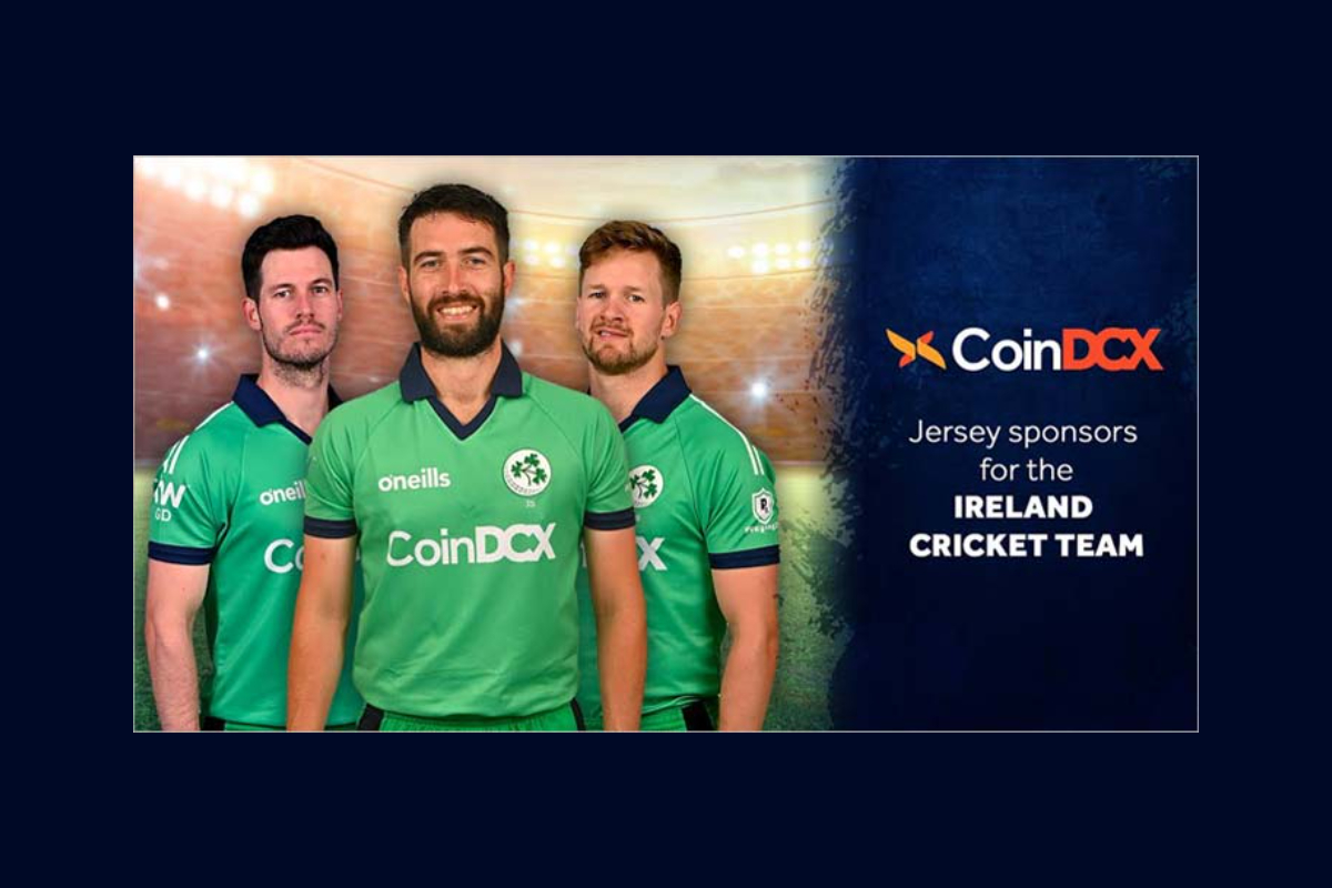 CoinDCX becomes the Official Jersey Sponsor for Ireland Cricket Team