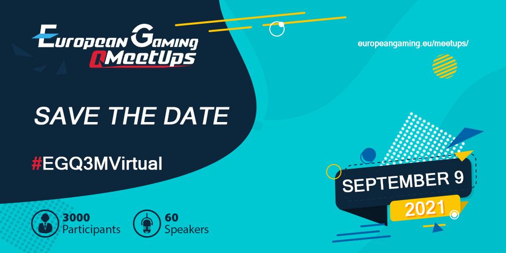 Happening next week on 9 September, European Gaming Q3 Meetup, agenda, sponsor and details inside