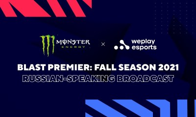 WePlay Holding partners with Monster Energy for the Russian-language broadcast of BLAST Premier: Fall Season 2021