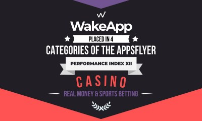 WakeApp placed in 4 categories of the AppsFlyer Performance Index XII Casino Real Money & Sports Betting category
