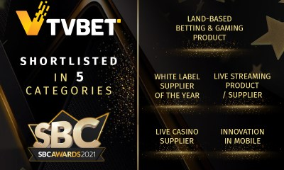 TVBET has got a record number of nominations for it at SBC Awards 2021