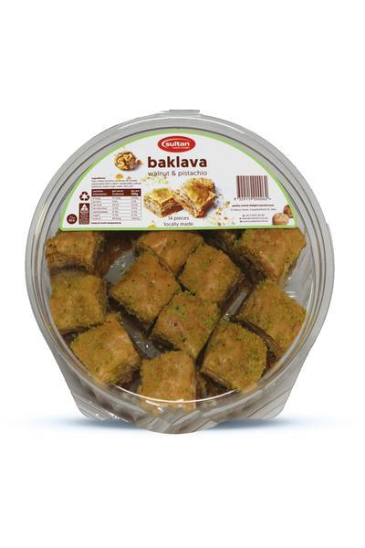 Sultan Baklava Walnut & Pistachio 14pcs