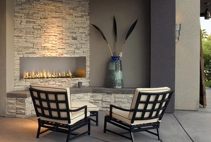Fireplace Design Dimensions J Series By European Home | Modern Outdoor Gas Fireplace