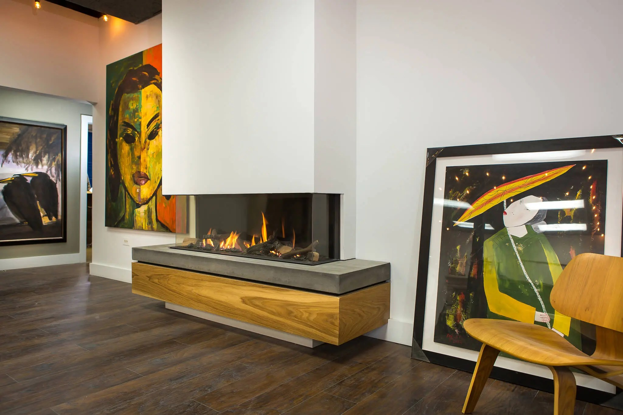 Efficiency Of Gas Fireplaces Trisore140 | Modern 3-sided Fireplace | Direct Vent Gas