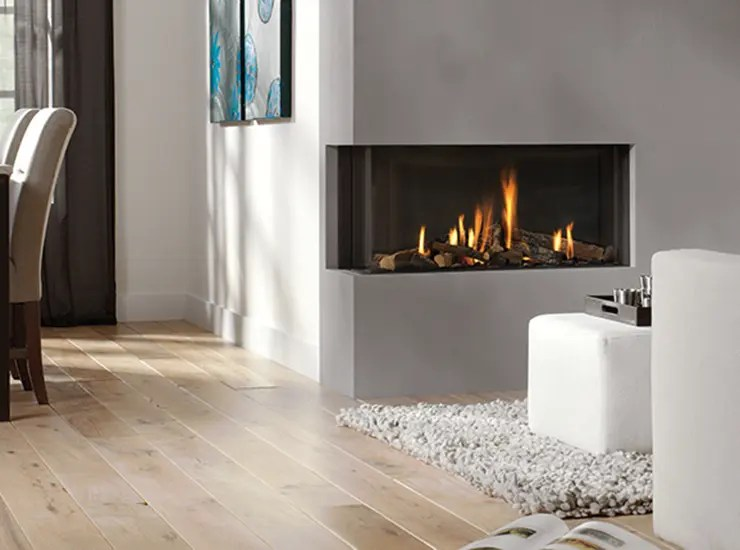 Peninsula Gas Fireplace Bidore 95 By Element4 | Modern Corner Fireplace | Direct